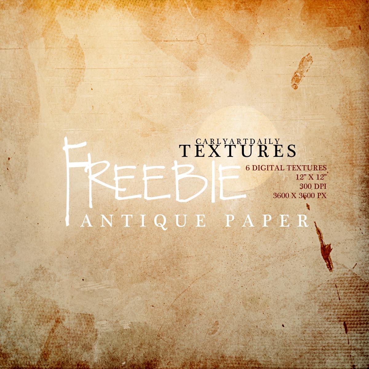 Antique Paper Freebie
